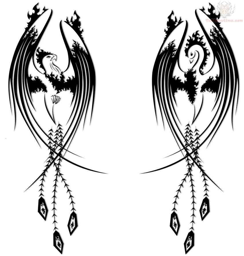Tribal Phoenix Tattoo Page 31