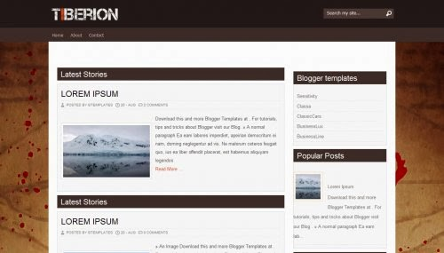 Tiberion Anime Blogspot Template