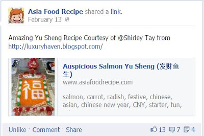 asia food recipe auspicious chinese new year salmon lo hei