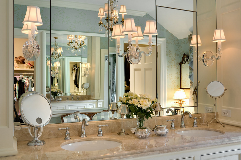 Mel & Liza: Bathroom Designs- Mirror Wall