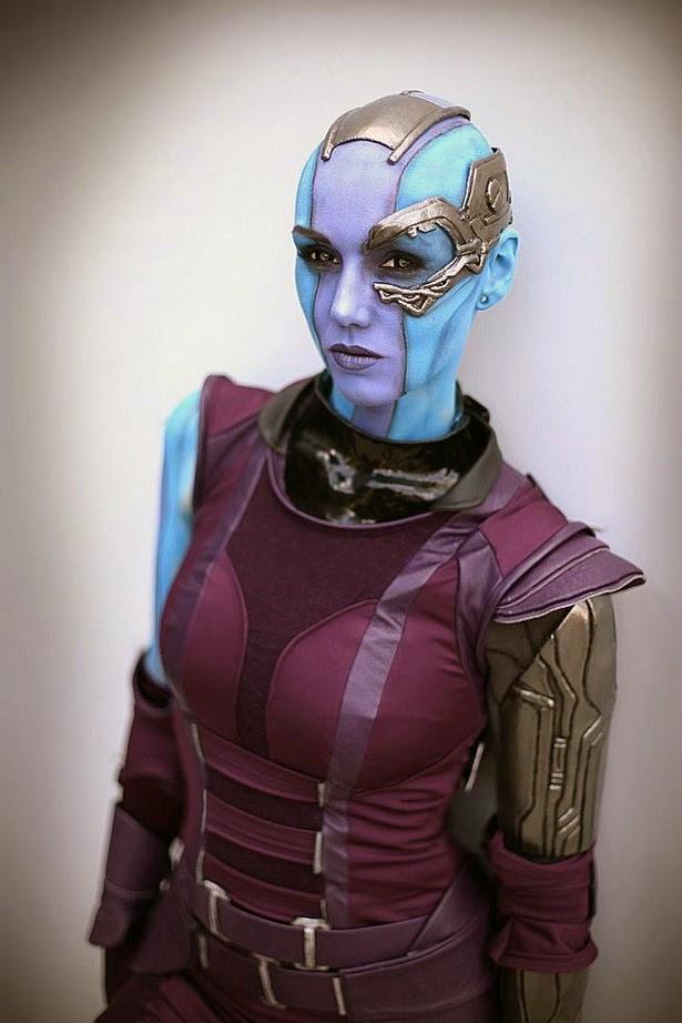 Cosplay de Nébula de 'Guardianes de la Galaxia'