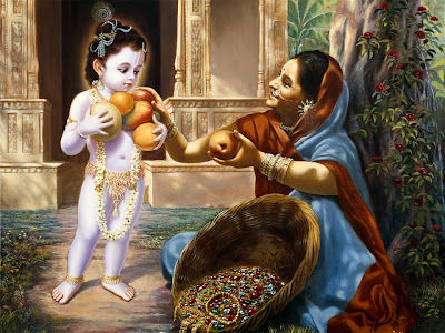 Mahabharat-Krishna-Eat-The-Fruite-HD-image