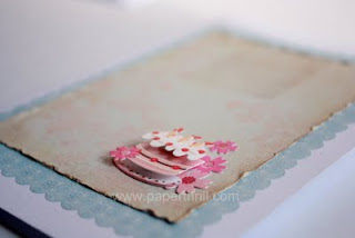Handmade Birthday cake love notes greeting card
