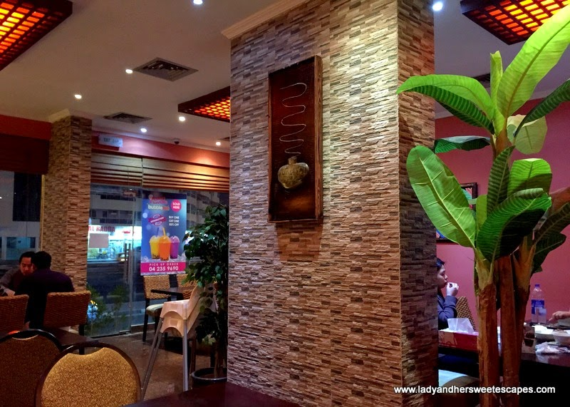 inside Asian Flavors restaurant in Al Qusais