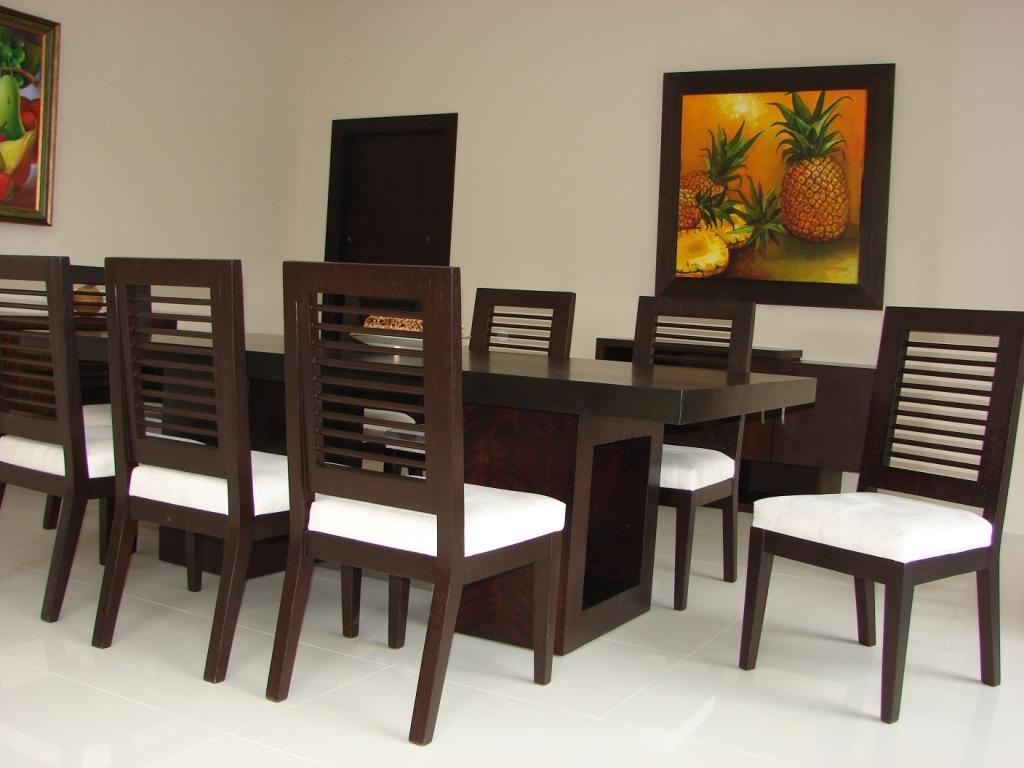 Arquitectura interior comedor 8 puestos base doble cubica for Comedor 8 puestos