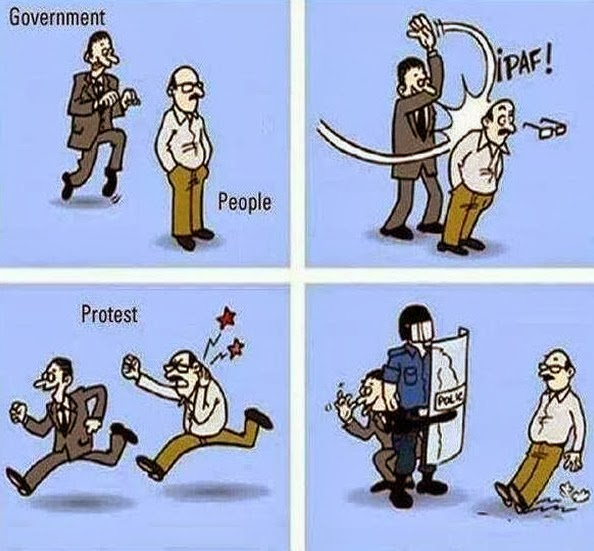 Cartoon - Government vs People