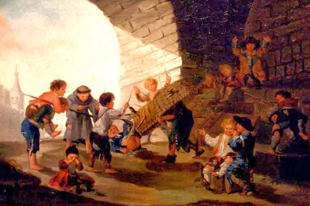 Goya, Enfants jouant au taureau