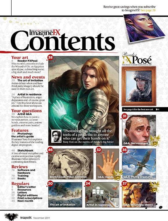 Imagine FX Magazine Issue 114 November 2014 content