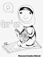 Belajar Mewarnai Huruf Alfabet Q Al Qur'an