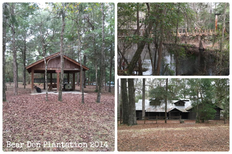 Historic Sites at O'Leno State Park in High Springs, FL from the Bear Den Plantation