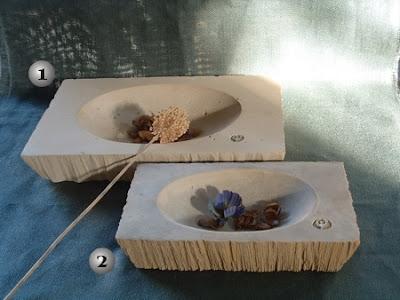 Bandejas de simil piedra para decoración