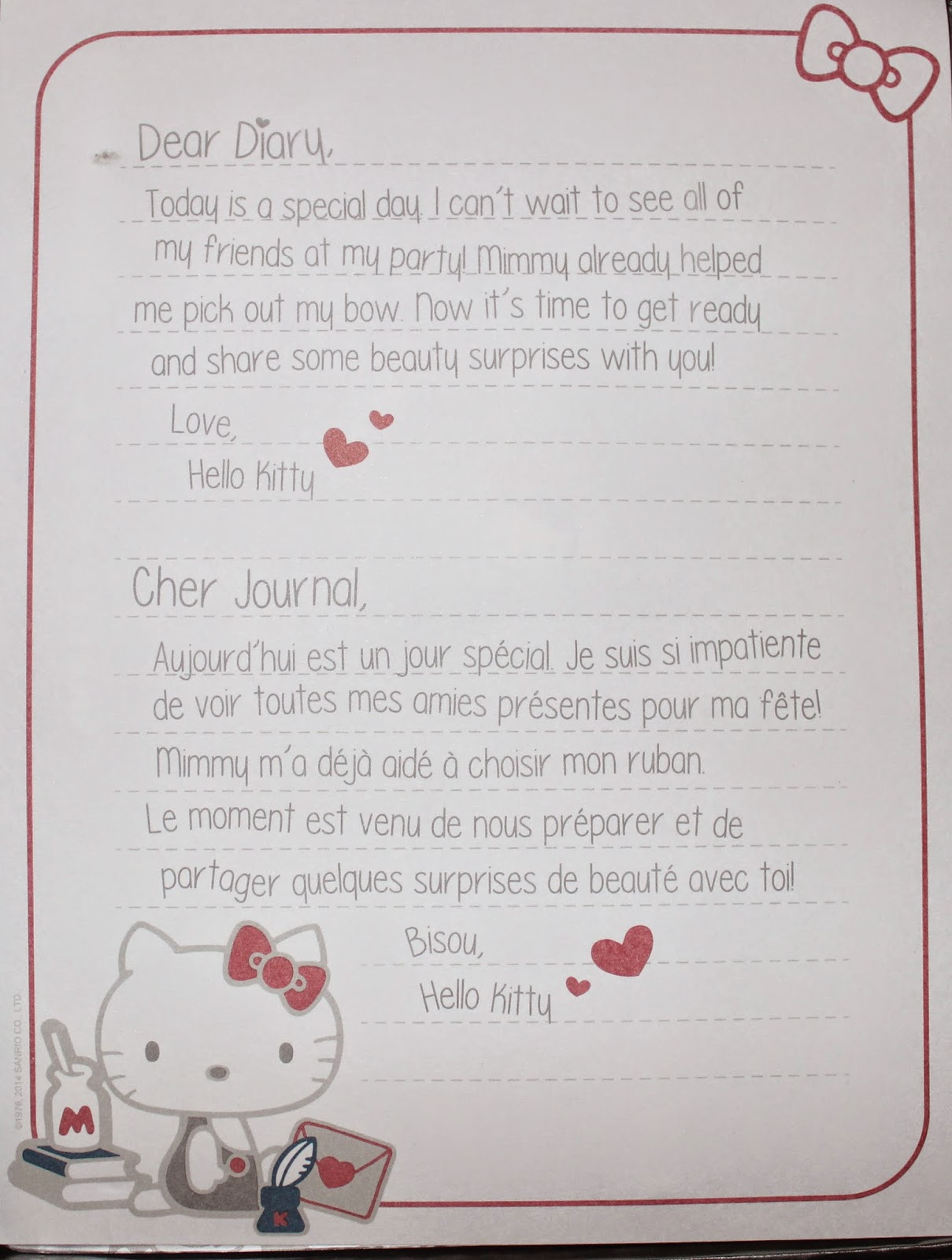Hello Kitty's The Red Bow Beauty Diaries