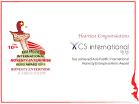 Asia Pacific International Honesty Enterprise Award