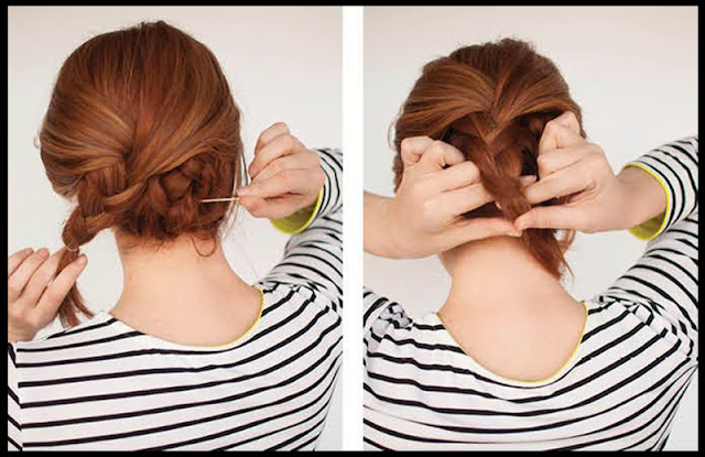 simple steps to make braided updo