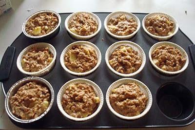 Muffin alle mele e crusca 7