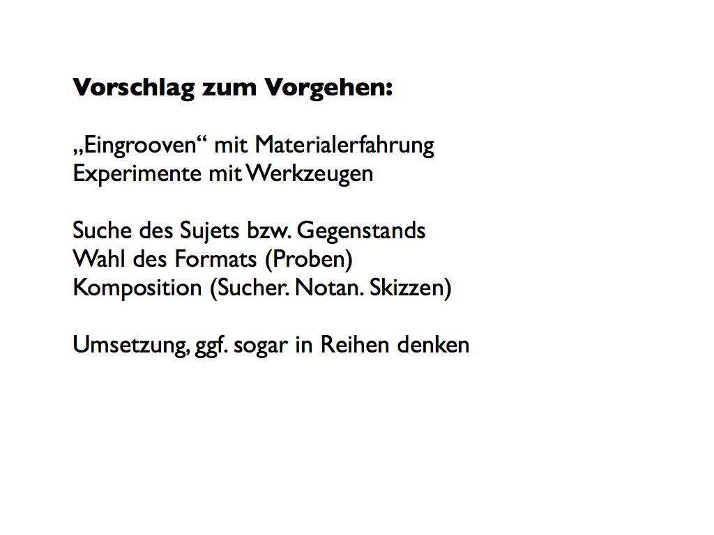 Offenes Atelier: 2012