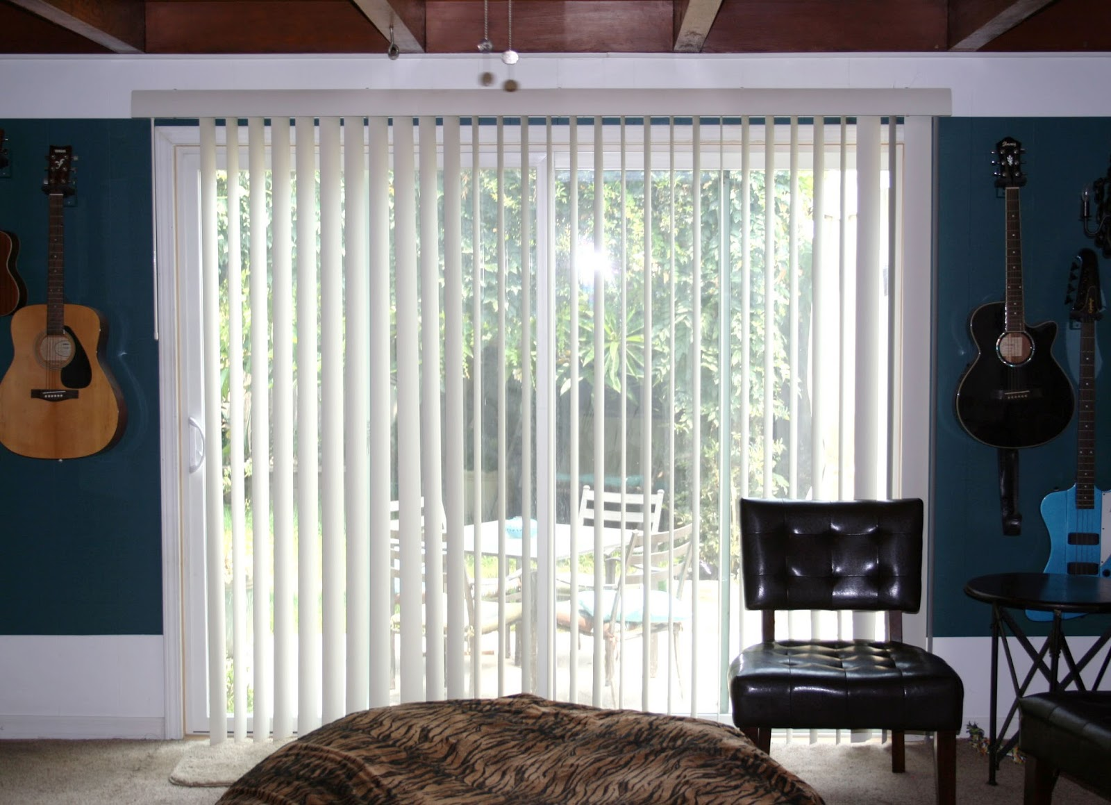 hanging curtains on a vertical blind track - Hanging Drapery