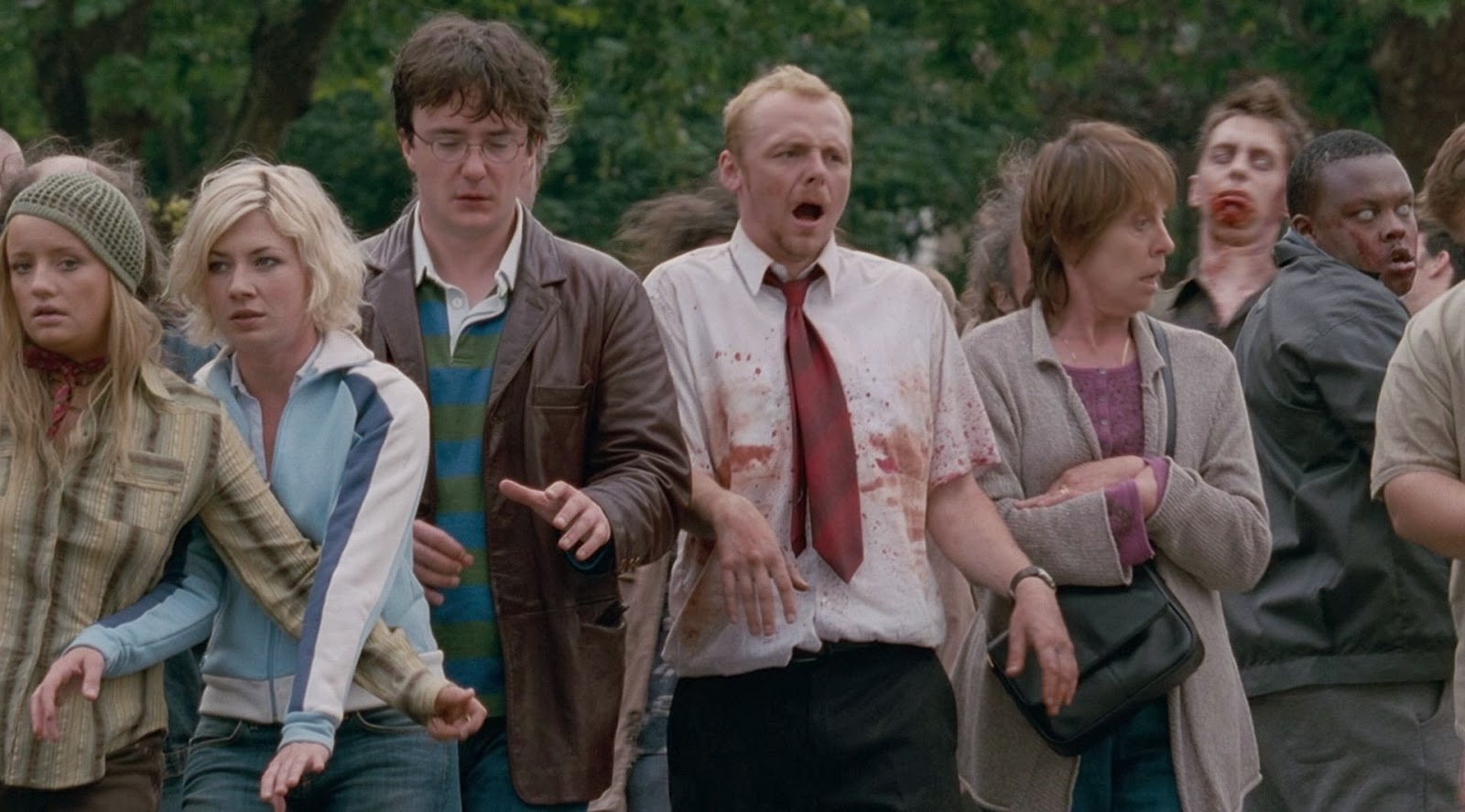 shaun of the dead,zombies,funny scene