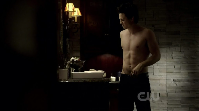 Ian Somerhalder Shirtless on The Vampire Diaries s2e17