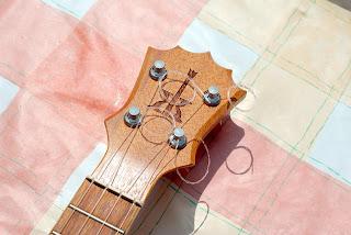 koaloha pikake soprano ukulele headstock