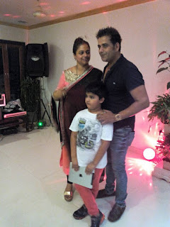 Ravi Kishan With Wife Preeti and Son