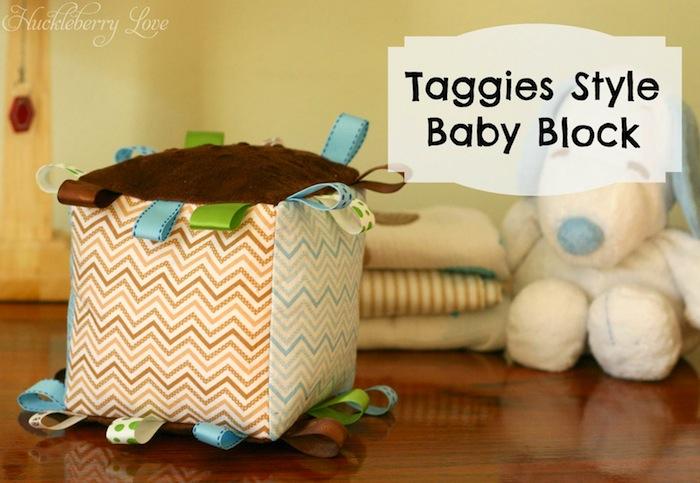Taggies Style Baby Block #babyshower