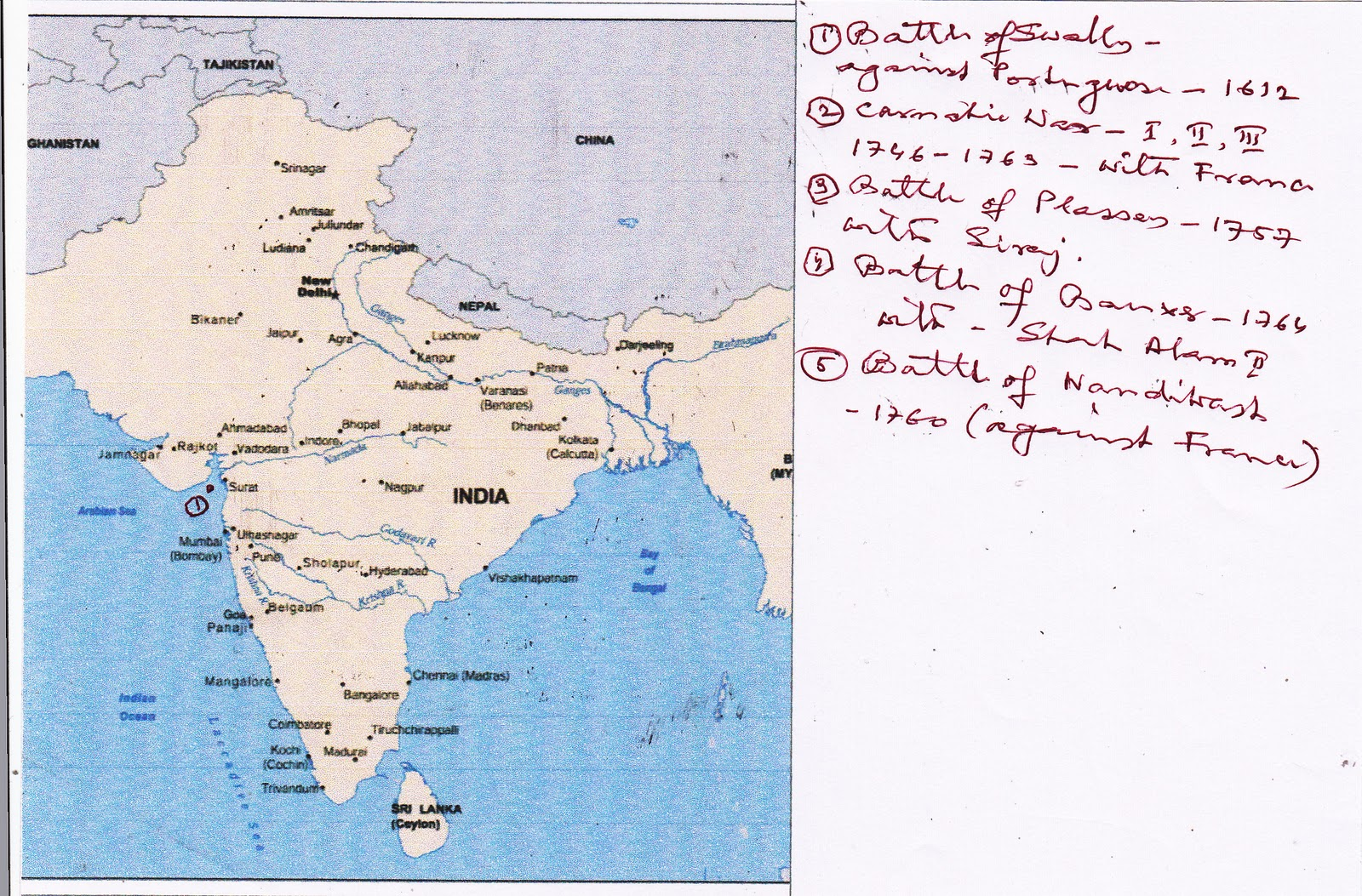 battles fought by british to gain over india
