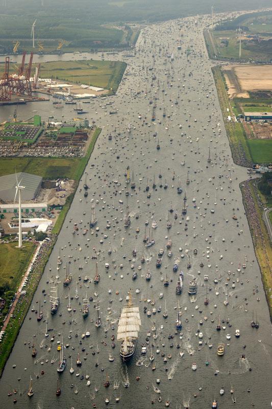Imagen del día: Impresionante vista aérea del 'Sail Amsterdam' 2015