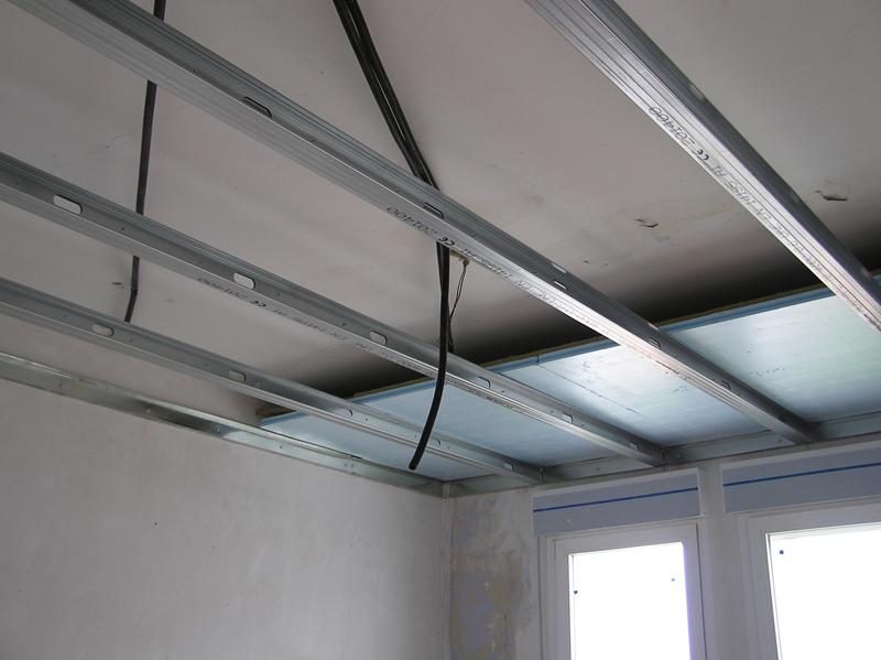 Techos de pladur como colocar un techo de pladur for Como encielar un techo