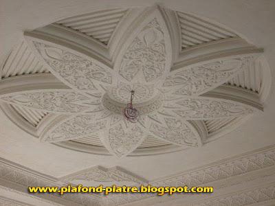 D coration de la maison faux plafond platre salon marocain for Les faux plafond marocain