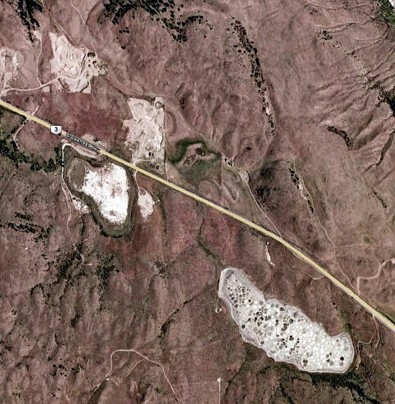 This is what Spotted Lake looks like from space (on Google Earth).