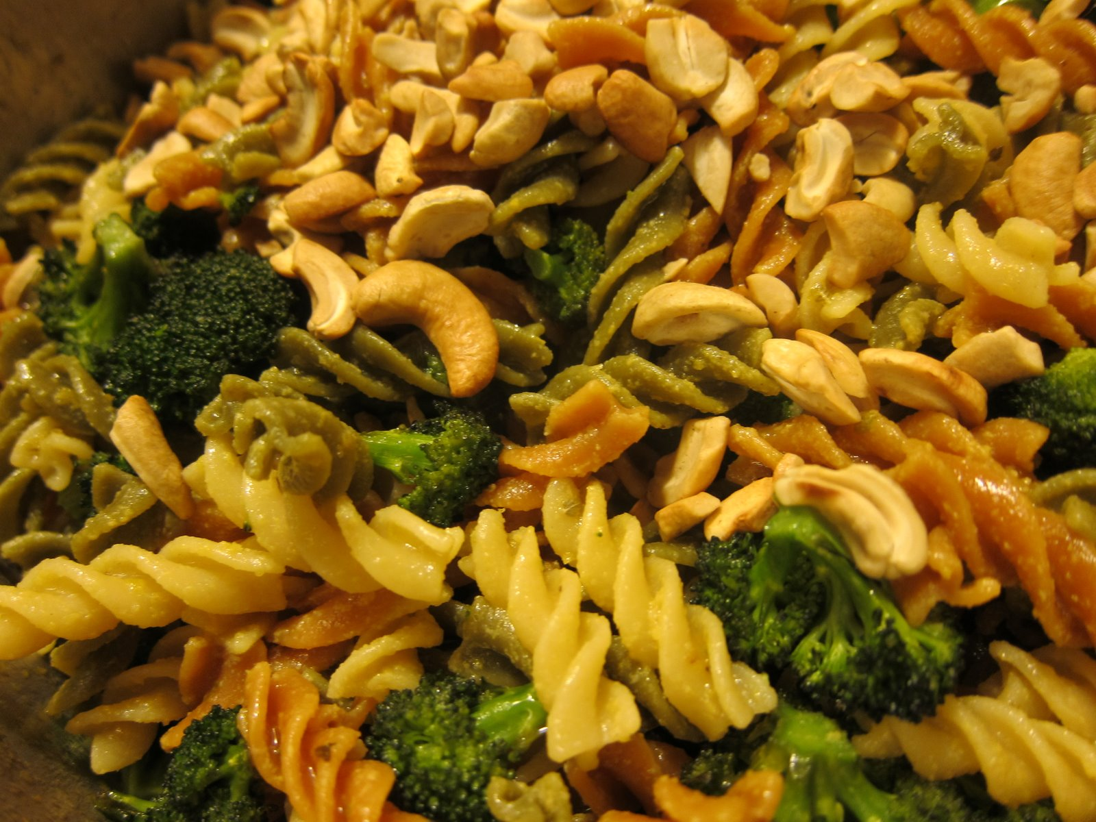with Spinach and Tomato, Roasted Broccoli and Cashews, Fresh Garlic ...