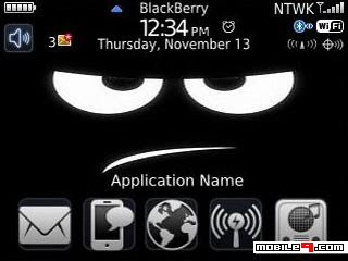 Tema BlackBerry 8520 Dont Touch Download Tema BlackBerry 8520 Gratis 2012