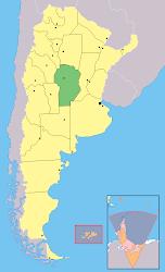 Ubicacion de Cordoba en Argentina
