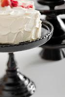 black cake pedestal