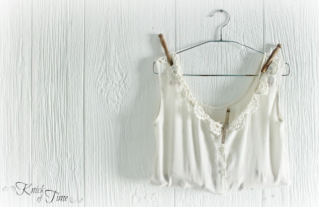 Clothespin Bag-made of Repurposed-White Cotton-Lace Shirt-by KnickofTimeInteriors.blogspot.com