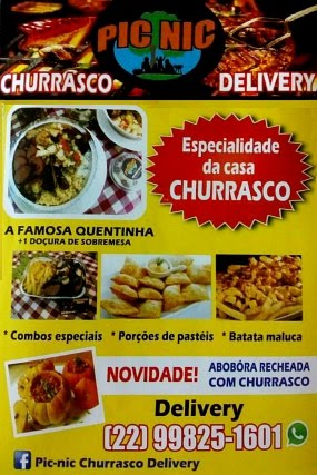 Pic Nic Churrasco Delivery Cabo Frio
