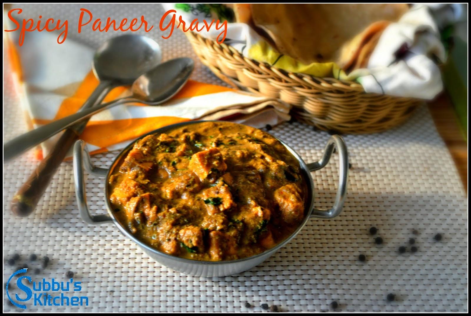 Spicy Paneer Gravy