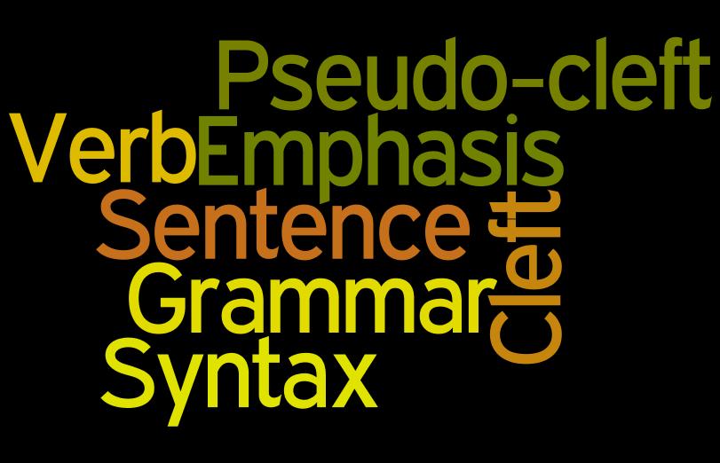 Cleft sentence