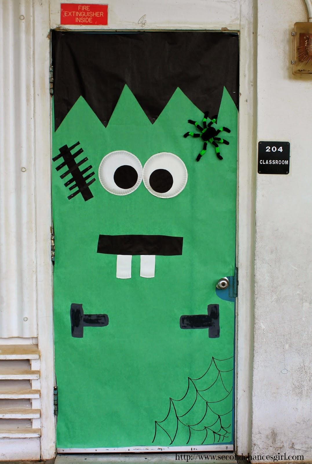 Frankenstein classroom door