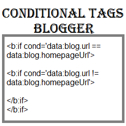 conditional tags blogger