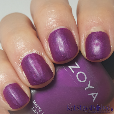 Zoya Matte Velvet 2015 - Iris | Kat Stays Polished
