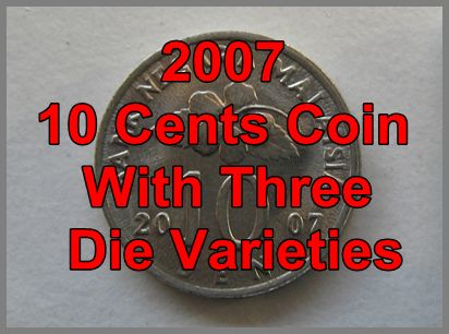 2007 10 Cents Coins