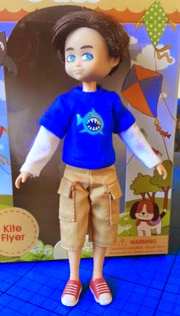 Finn the boy doll with cool shark t-shirt