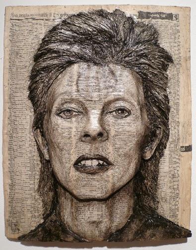 Esculturas con Guias Telefonicas Recicladas, Retratos 3D