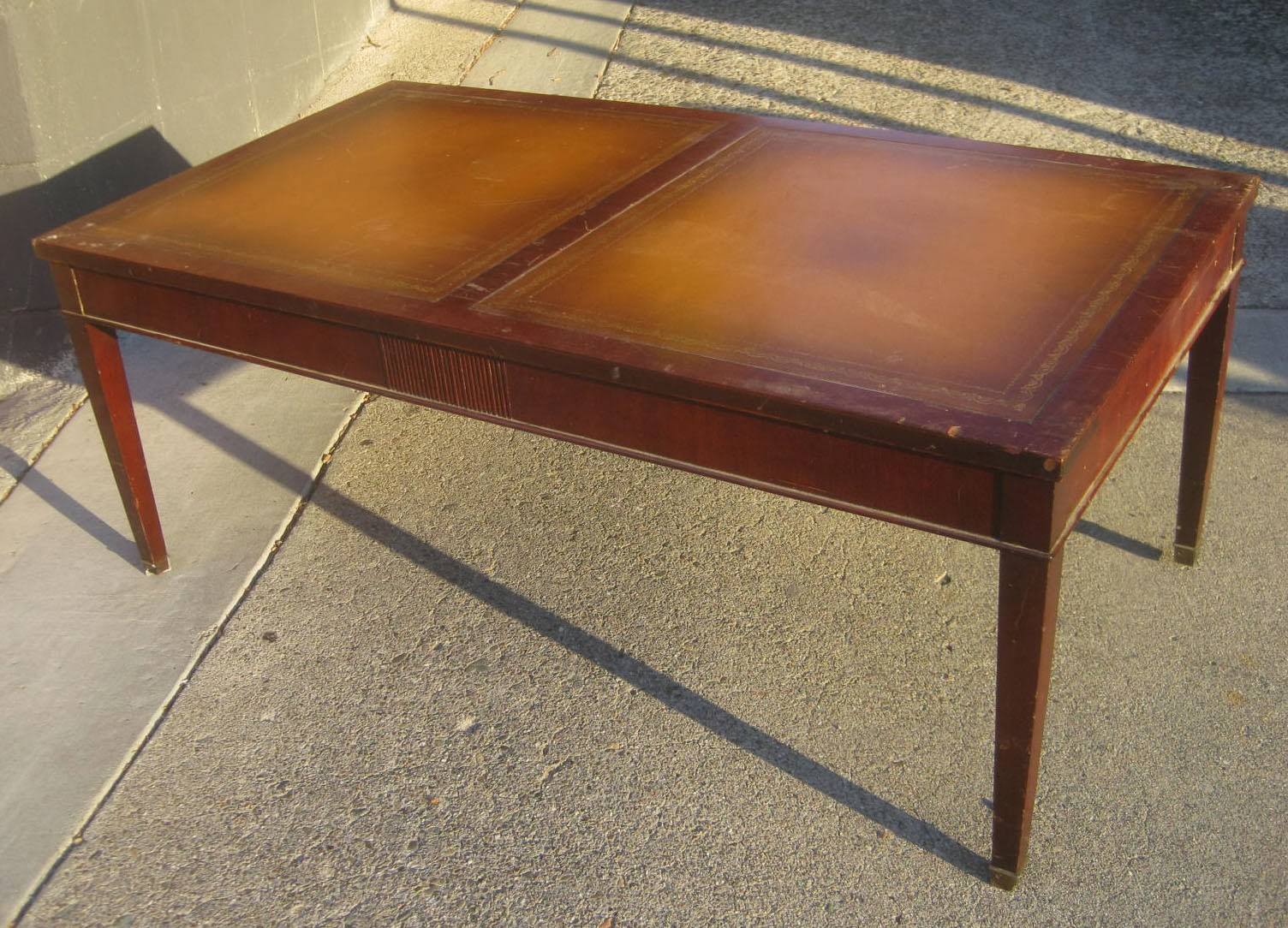 uhuru furniture collectibles sold leather top coffee table 40