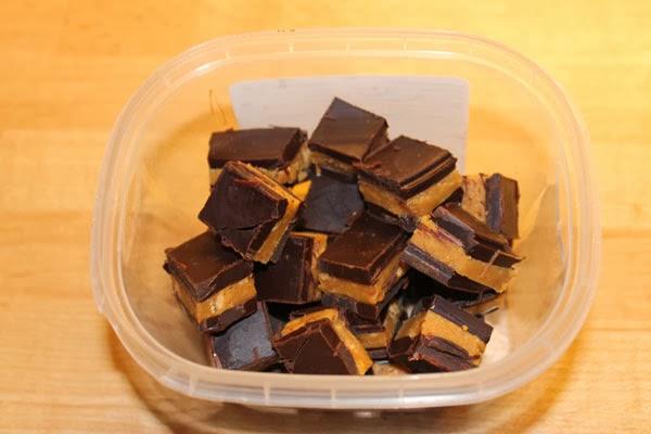 Cubetti cioccolata e burro di arachidi