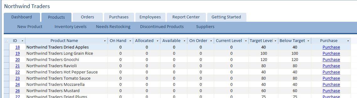 customer service database template