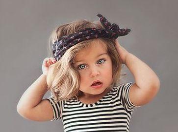 peinados infantiles con pañuelos