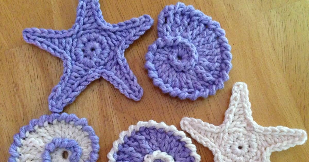 Crochet Sea Motifs Free Patterns : Das Crochet Connection: Sea Shell Motifs/Garland #1